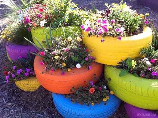 Цветы для сада своими руками из подручных материалов
