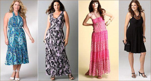 Летнее платье для полных женщин кому за 50