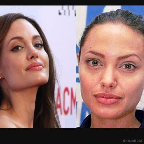 Снимки актрис с макияжем на лице и без него  31347