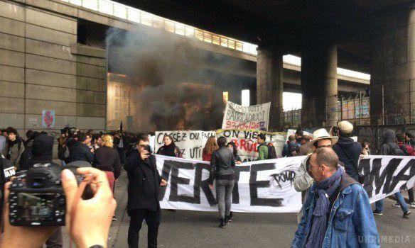 УПарижі наакції протесту проти Марін ЛеПен сталися заворушення