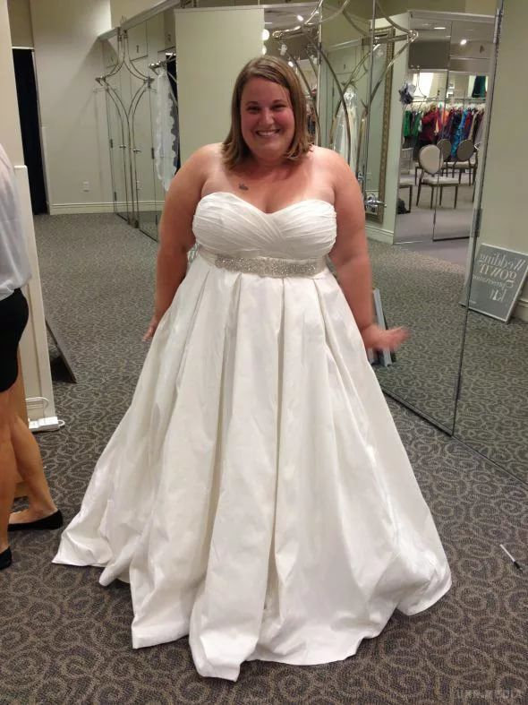 Свадебные платья для очень полных девушек