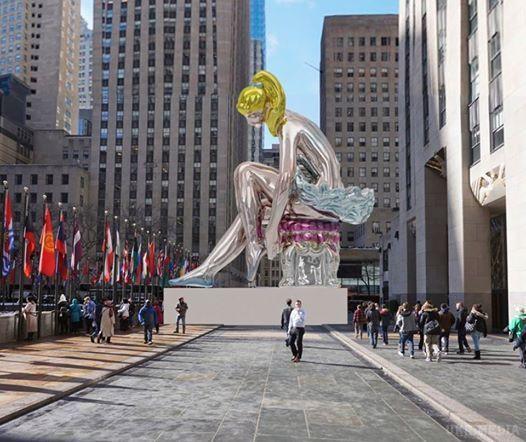 Американський художник встановив уНью-Йорку скульптуру-копію статуетки української майстрині