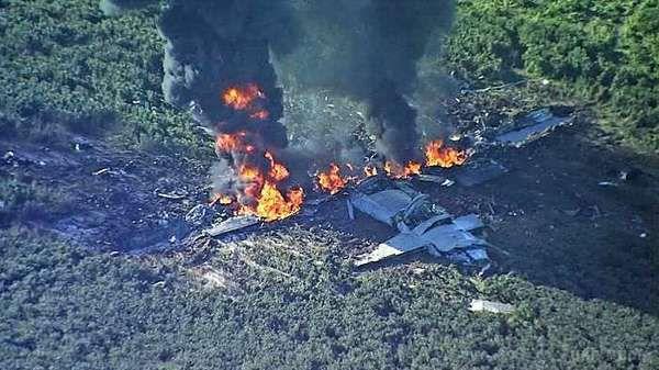 УСША розбився військовий літак: є жертви. Відео