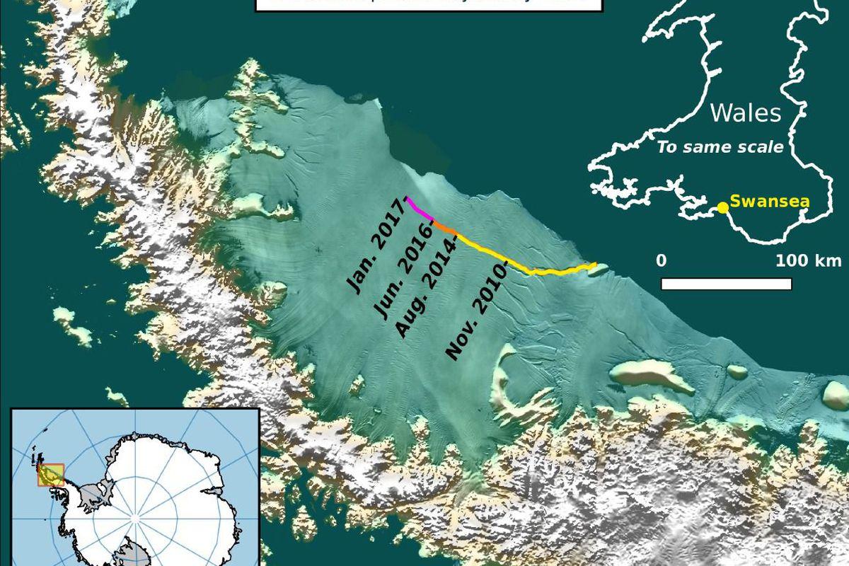 Від льодовика вАнтарктиді відколовся багатокілометровий айсберг