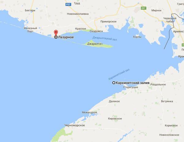 ВЛазурному хлопець заснув набатуті і приплив вокупований Крим