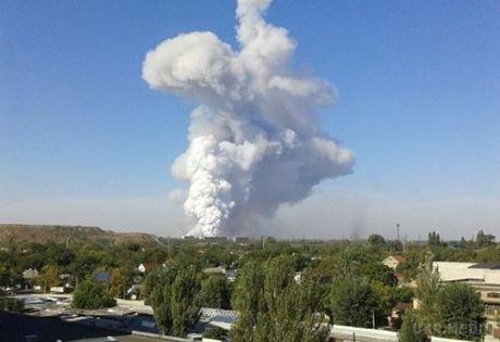 Вантажівка бойовиків із контрабандною зброєю і боєприпасами вибухнула вДонецьку