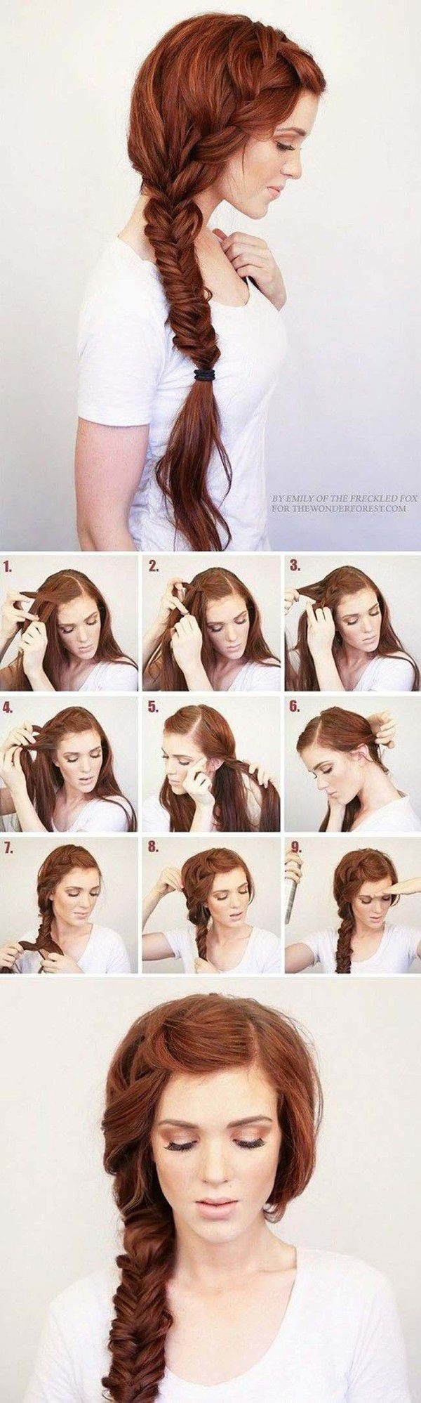Причёски на бок своими руками в домашних условиях