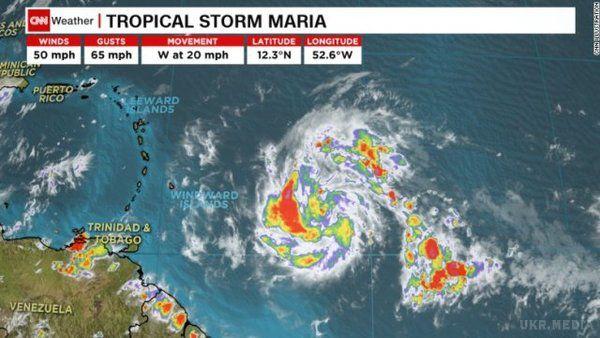 Нова загроза: ураган «Марія» уАтлантичному океані досягнув максимальної потужності