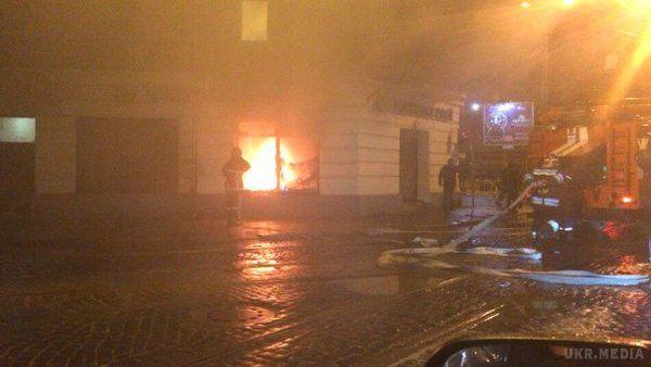 УЛьвові згоріло відділення російського «Сбербанку»
