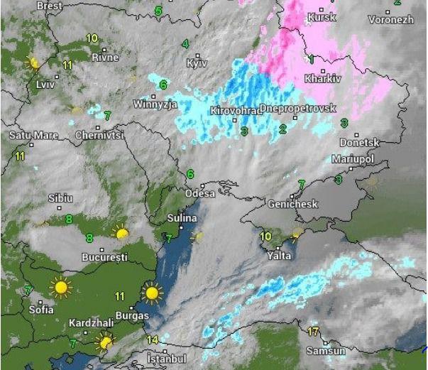 Завтра вУкраїні випаде мокрий сніг