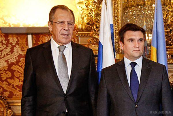 Клімкін обговорив з міністром закордонних справ Росії Лавровим обмін заручниками