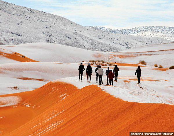Упустелі Сахара другий рік поспіль випав сніг