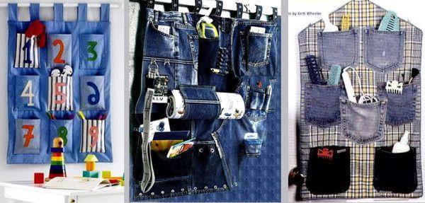 Кармашки из джинсов своими руками