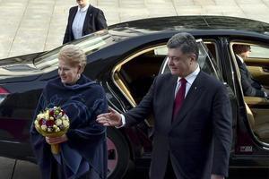 Президенти України Петро Порошенко і Литви Далею Грібаускайте  зробили спільну заяву. Президент України Петро Порошенко провів зустріч з главою Литовської Республіки Далею Грібаускайте.