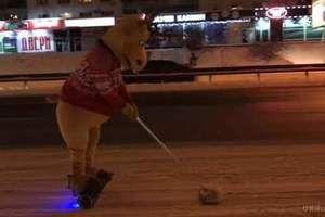 Хіт мережі: як «олень» чистить від снігу проспект у Києві (відео). У Києві дорогу від снігу прибирав зворушливий олень на гіроборде.