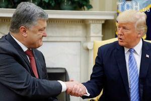 """Президент США Дональд Трамп поділився враженнями про зустріч з Порошенком.  Трамп заявив, що для нього ця зустріч """"велика честь""""."""