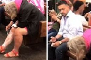 Це просто жахливо! Жінка голить ноги прямо на платформі станції метро. Чого тільки не зустрінеш у Нью-Йорку і не тільки.